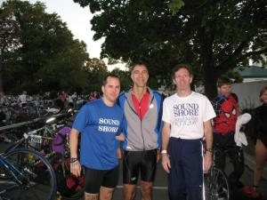 SSRMC Relay, 2007 Westchester Tri, Dave, Bob, and me