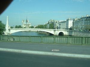 Aboard the 67 Bus, crossing the Seine